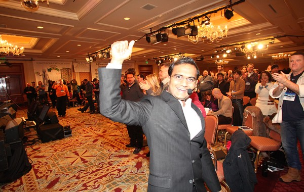Praveen Narra gets a standing ovation after his speech