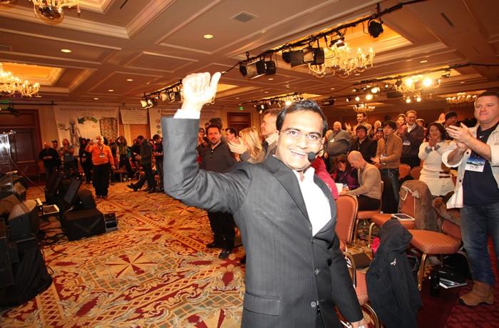 Praveen Narra gets a standing ovation after his speech