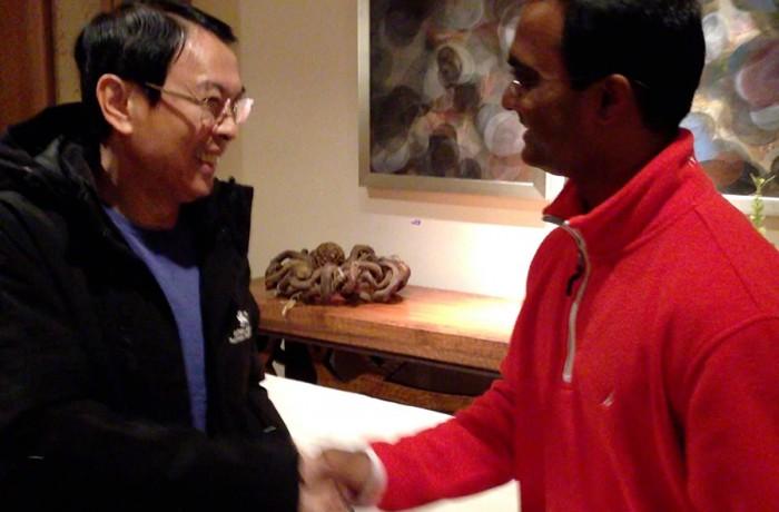 Praveen Narra with billionaire, Tony Tan