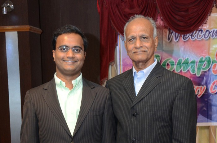 Praveen Narra with  Mr. P. Naidu