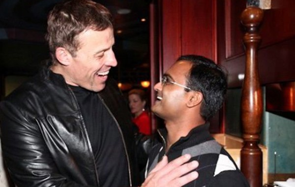 Praveen Narra with Tony Robbins