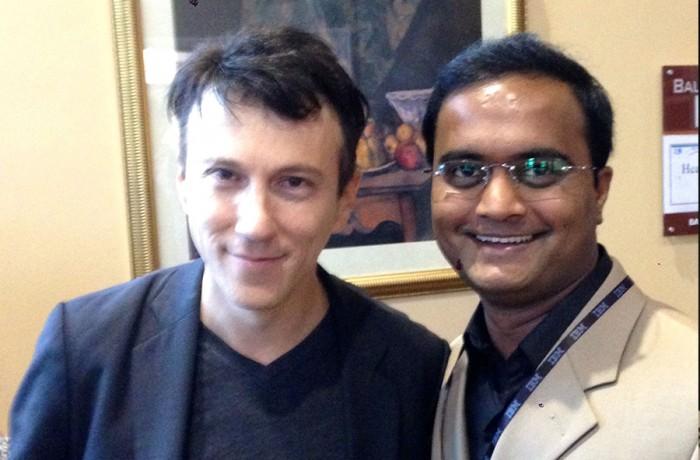 Praveen Narra with Dr. Daniel Kraft