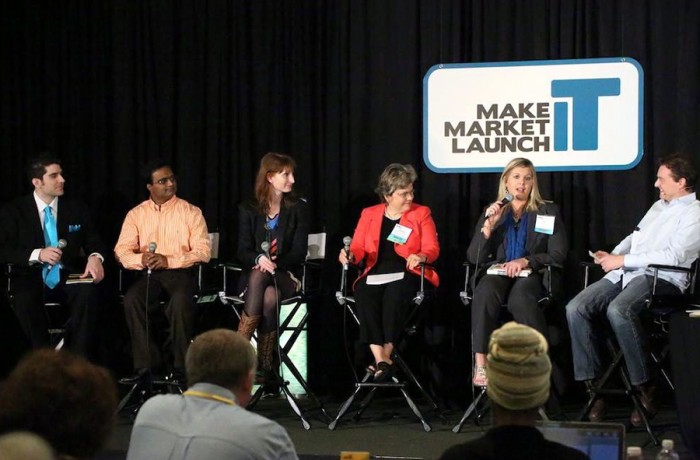 Praveen Narra in an expert panel at Make Market Launch IT in San Diego